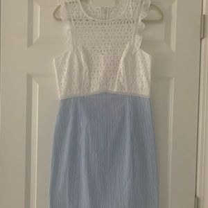 Lily Pulitzer Seersucker/Lace Dress